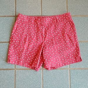 LOFT Ann Taylor Riviera Red/White Polka Dot Shorts